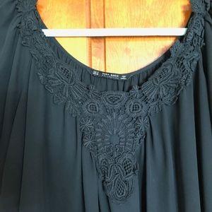 Zara Black Lace Shirt